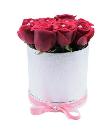 Medium Silver & Red Collection-Same-Day-Flower Delivery-Las-Vegas-Henderson-NV
