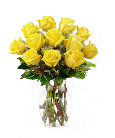 One Dozen Yellow Roses-Same-Day-Flower Delivery-Las-Vegas-Henderson-NV