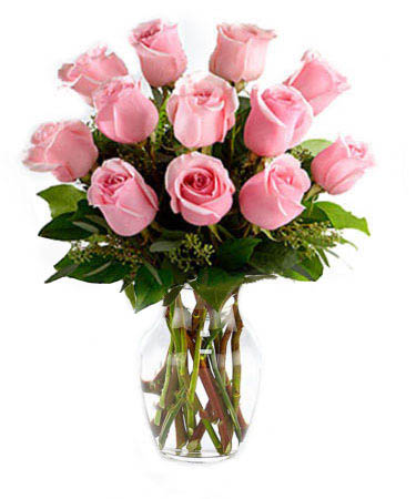 One Dozen Pink Petal Roses-Same-Day-Flower Delivery-Las-Vegas-Henderson-NV