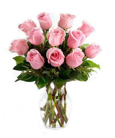 One Dozen Pink Petal Roses-Same-Day-Flower-Delivery-Las Vegas-Henderson-NV