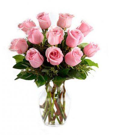 One Dozen Pink Petal Roses-Same-Day-Flower-Delivery-Las Vegas-Henderson-NV