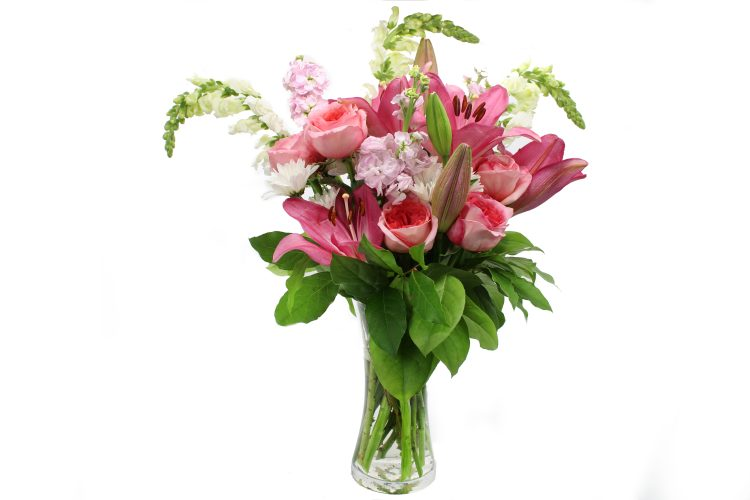 Pink lilies and roses-Same-Day-Flower Delivery-Las-Vegas-Henderson-NV