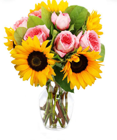 Bursting Sunshine-Flower-Arangement-Delivery-Las-Vegas-Henderson-NV