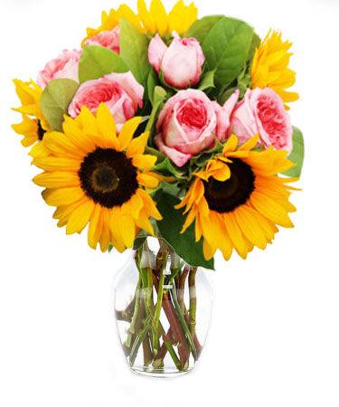 Bursting Sunshine-Flower-Arangement-Delivery-Las-Vegas-Henderson-NV