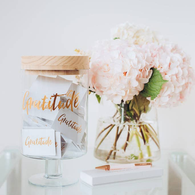 gratitude glass jar-gratitude glass jar-gratitude keepsake gifts-memories glass jar-Same-Day-Flower Delivery-Las-Vegas-Henderson-NV Roses