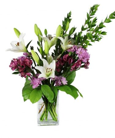 avender, purple and white flower-Flower-Arangement-Delivery-Las-Vegas-Henderson-NV