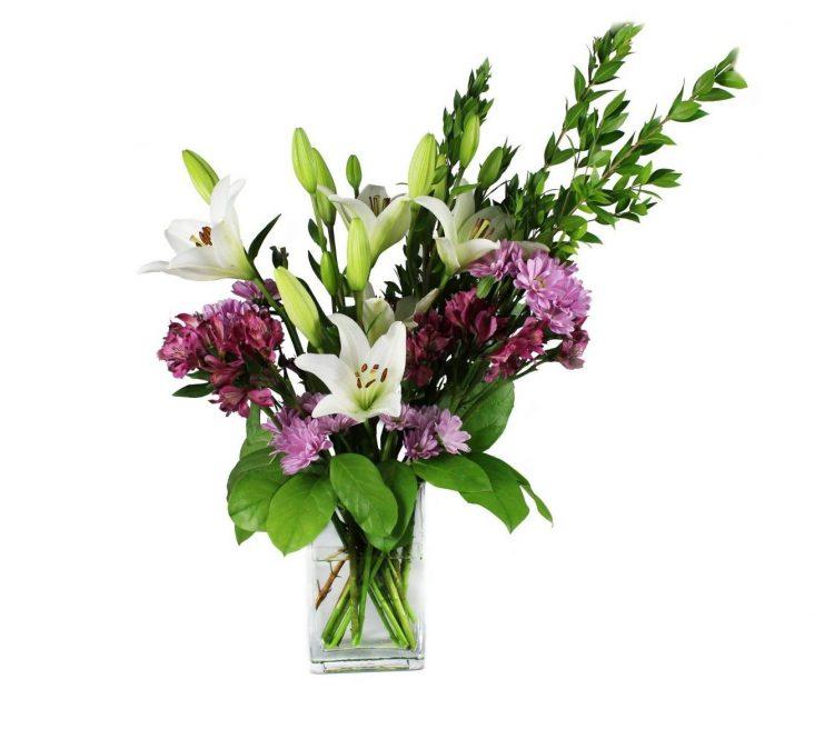 avender, purple and white flower-Flower-Arangement-Delivery-Las-Vegas-Henderson-NV