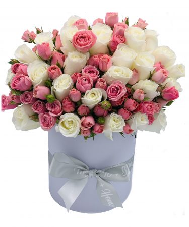 always-on-my-mind-deluxe-flower-arrangement-whispers-and-honey-same-day-flower-delivery-in-las-vegas-pink-and-cream-roses