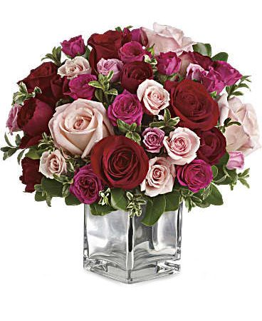 Love Medley Bouquet with Red Roses-Medium-Same-Day-Flower-Delivery-Las Vegas-Henderson-NV