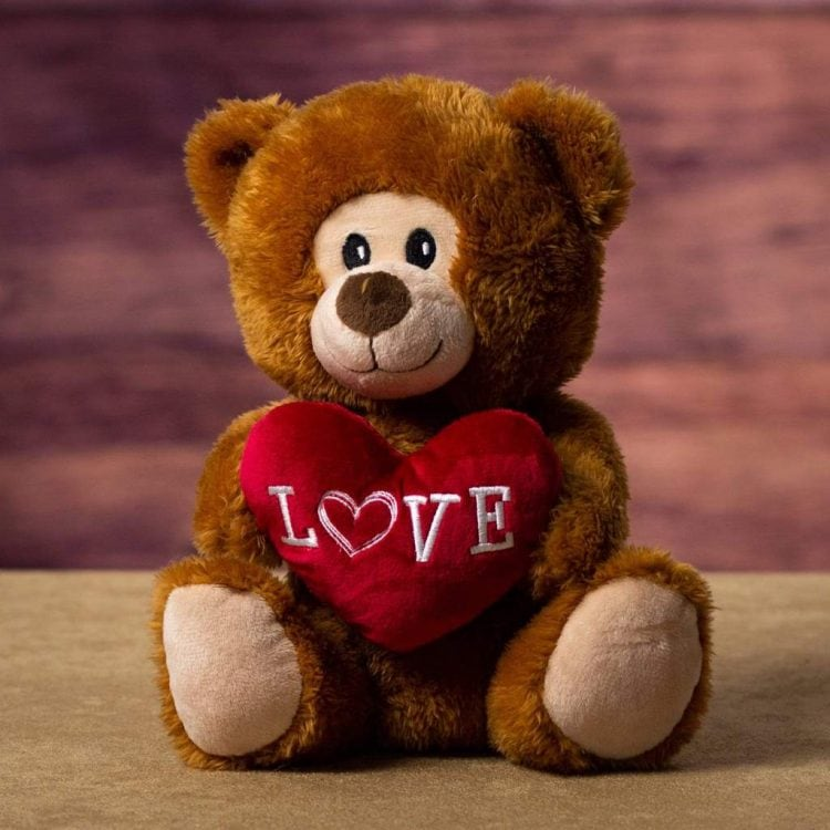 Love-Valentine-Teddy-Bear-Plush-Brown-White-Beige-Whispers-And-Honey-Same-Day-Flower-Delivery-In-Las-Vegas-Henderson