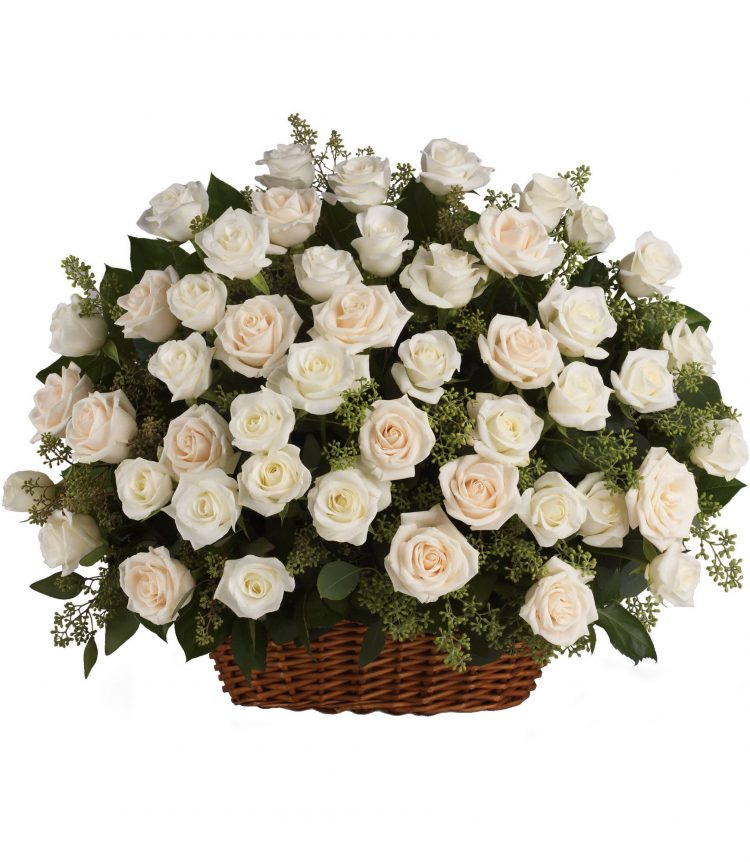 White-Roses-Funeral-Sympaty-Same-Day-Flower-Delivery-Las-Vegas-Henderson-NV